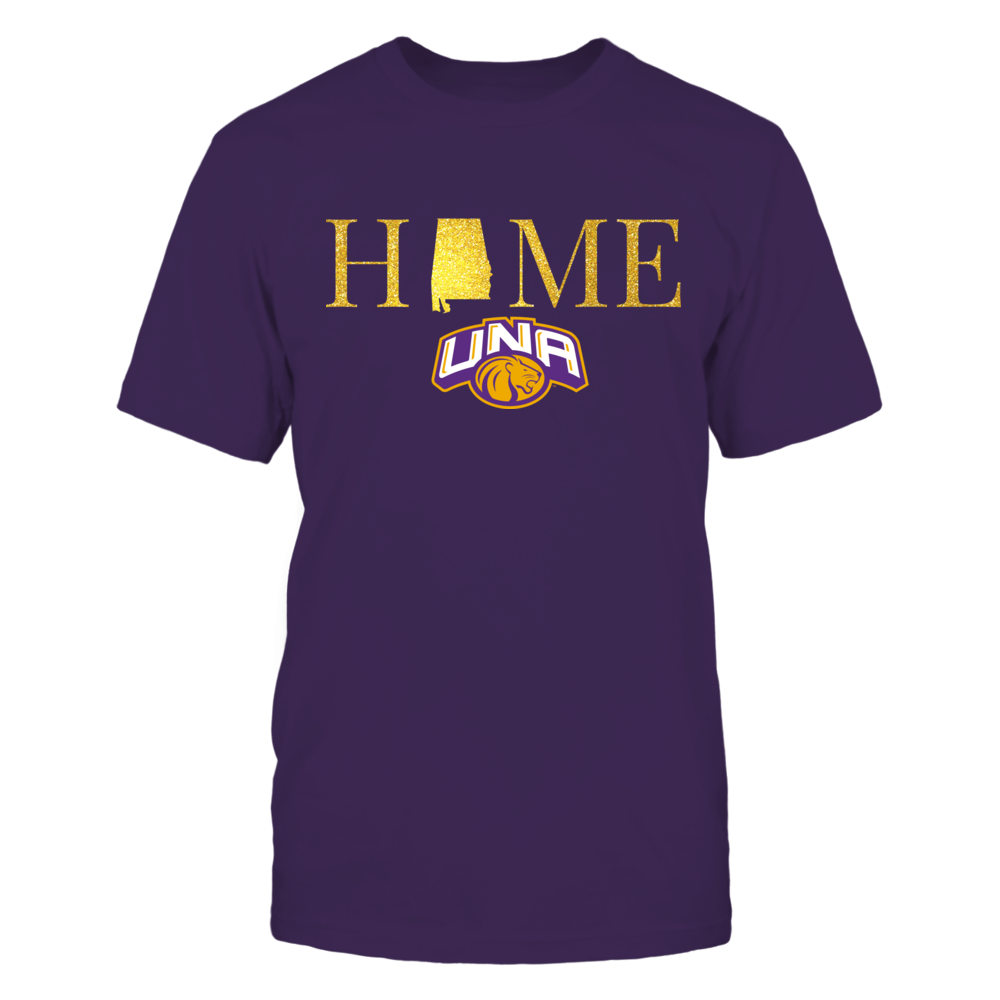 North Alabama Lions Alabama Home in Glittering Gold - North Alabama Lions FanPrint