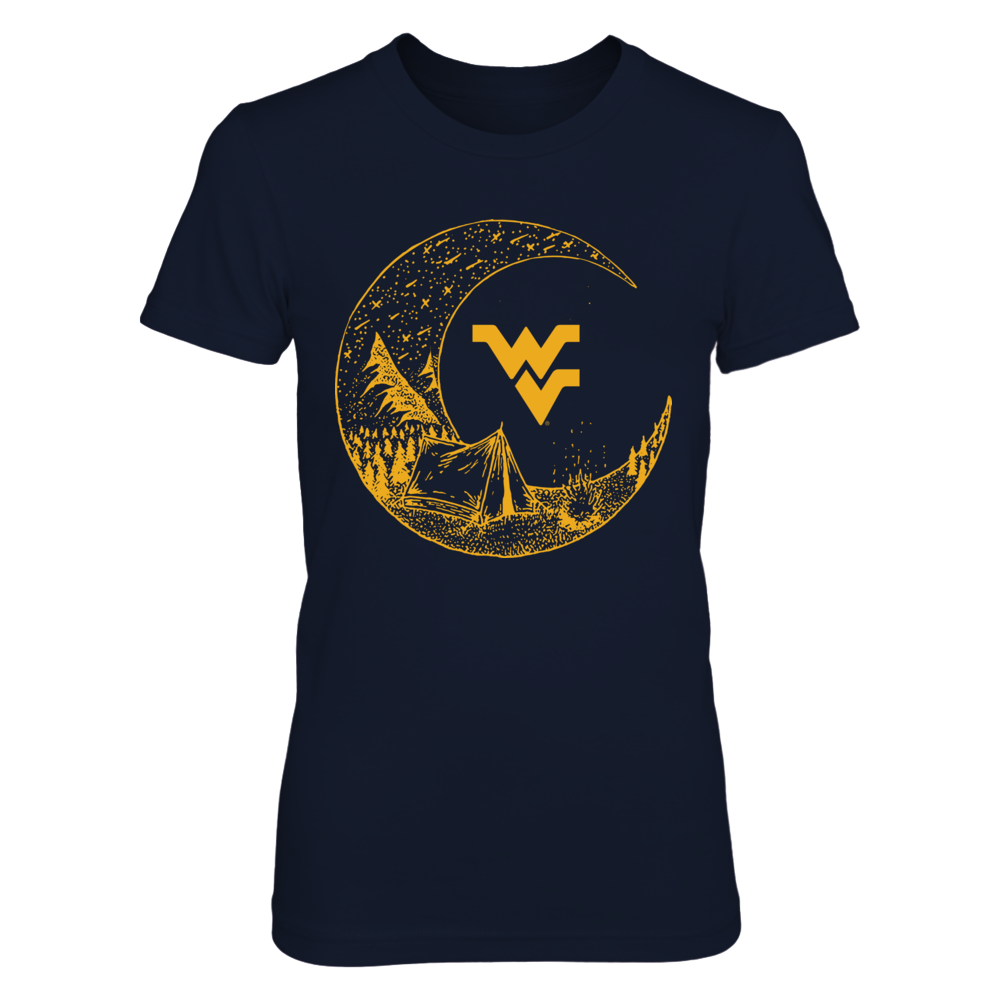 West Virginia Mountaineers - Camping - Camping Under The Moon Front picture