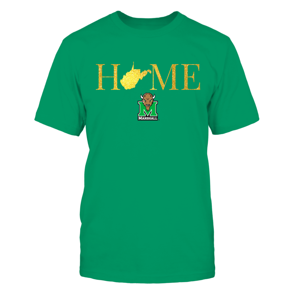 Marshall Thundering Herd West Virginia Home in Glittering Gold - Marshall Thundering Herd FanPrint