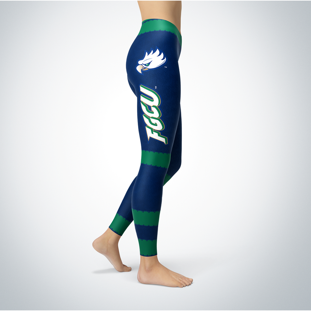 Football Design Florida Gulf Coast Eagles Leggings Front picture