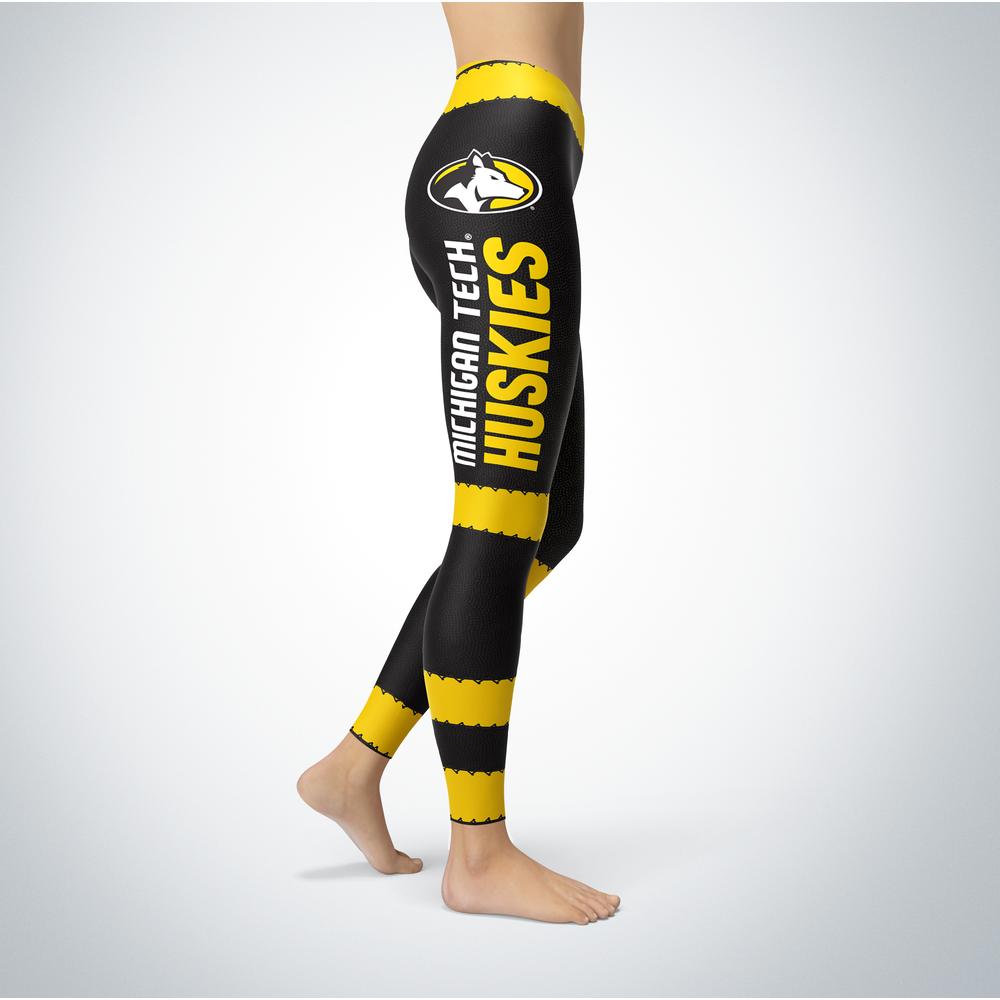 Football Design Michigan Tech Huskies Leggings Front picture