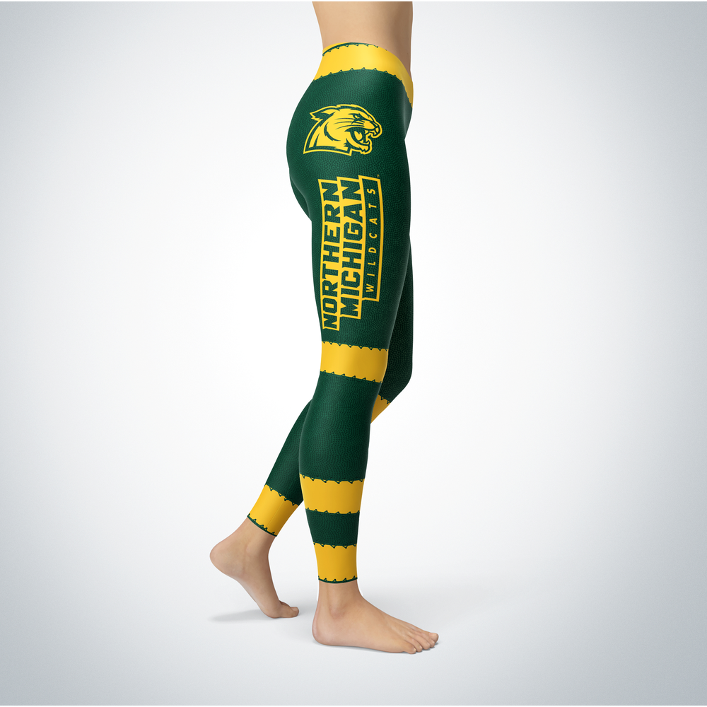 Football Design Northern Michigan Wildcats Leggings Front picture