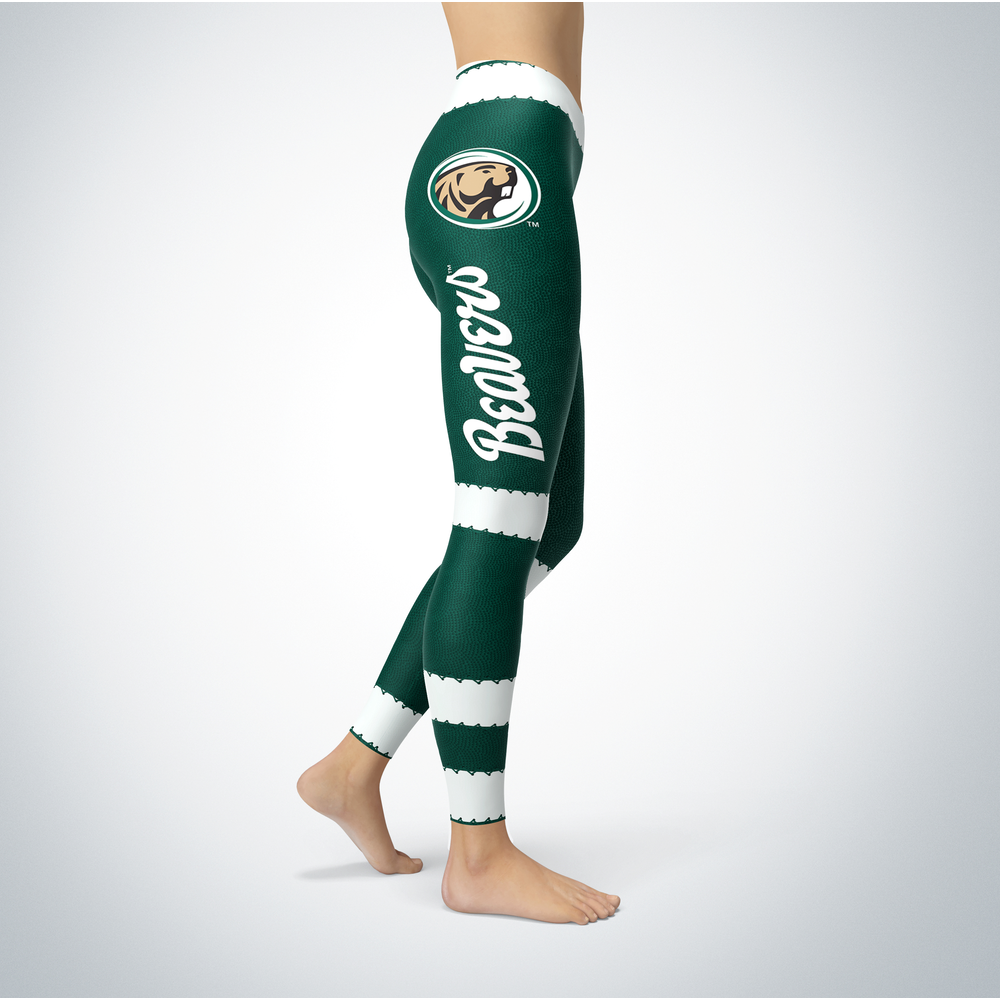 Football Design Bemidji State Beavers Leggings Front picture