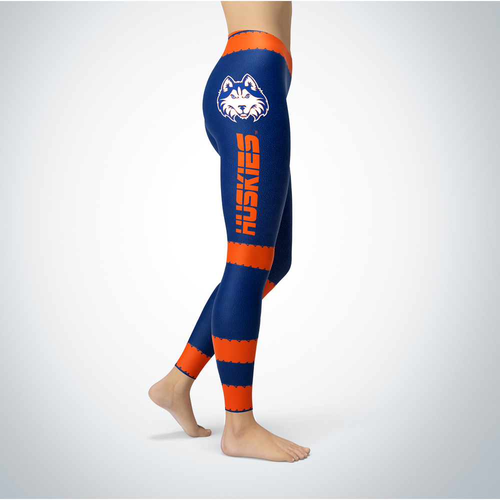 Football Design Houston Baptist Huskies Leggings Front picture