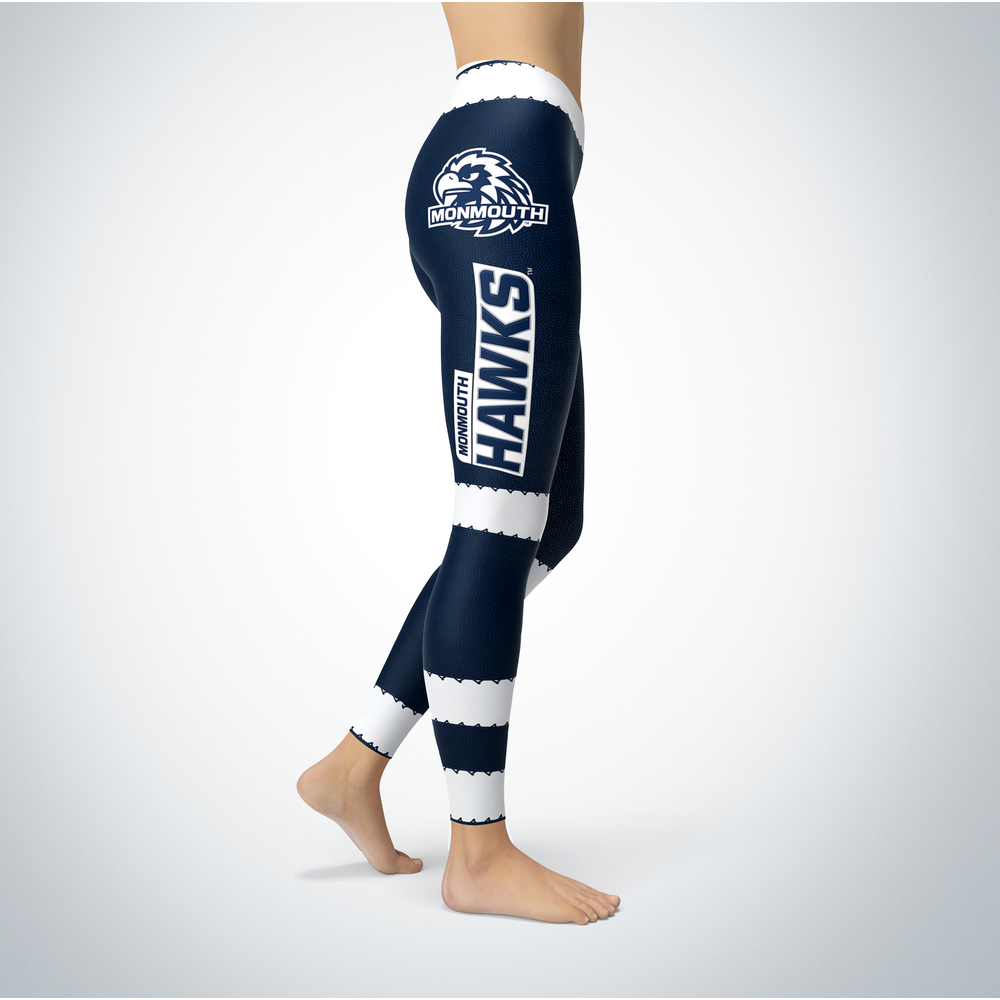 Football Design Monmouth Hawks Leggings Front picture