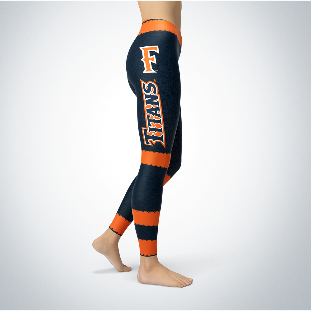 Football Design Cal State Fullerton Titans Leggings Front picture