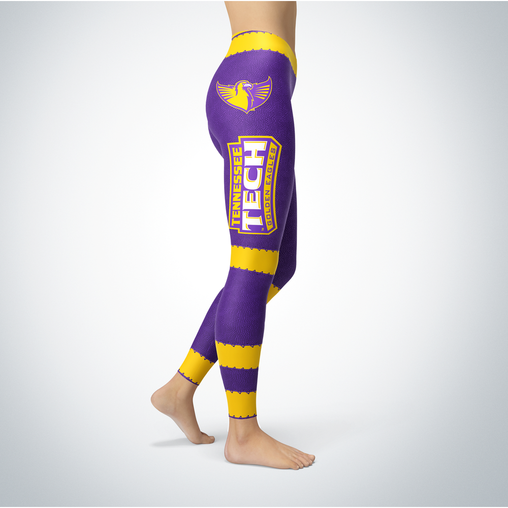 Football Design Tennessee Tech Golden Eagles Leggings Front picture
