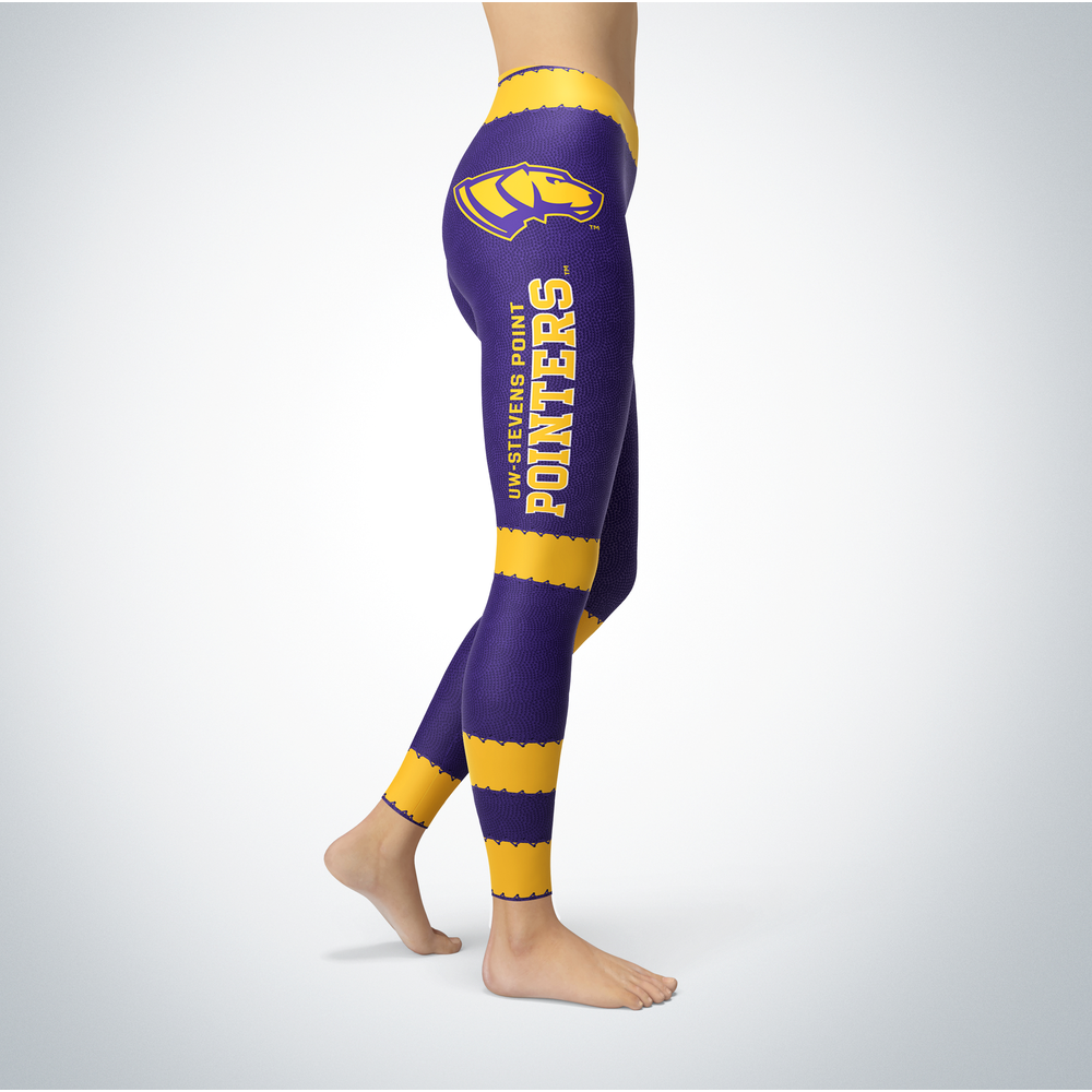Football Design Wisconsin-Stevens Point Pointers Leggings Front picture