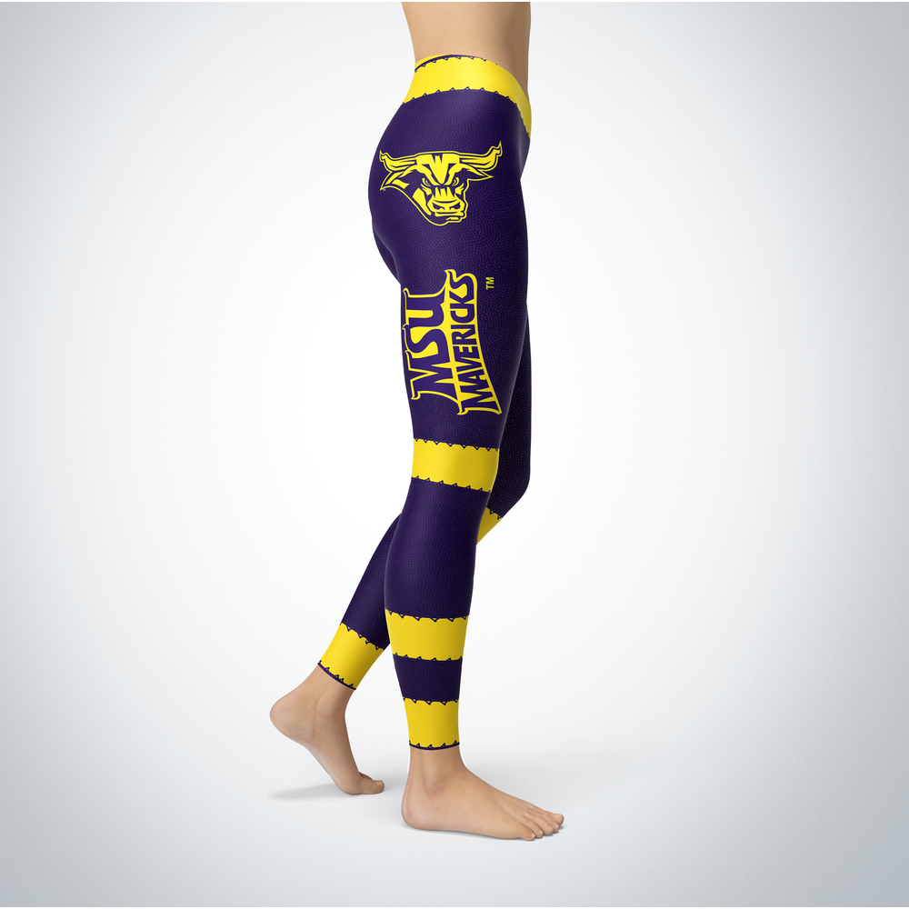 Football Design Minnesota State Mavericks Leggings Front picture