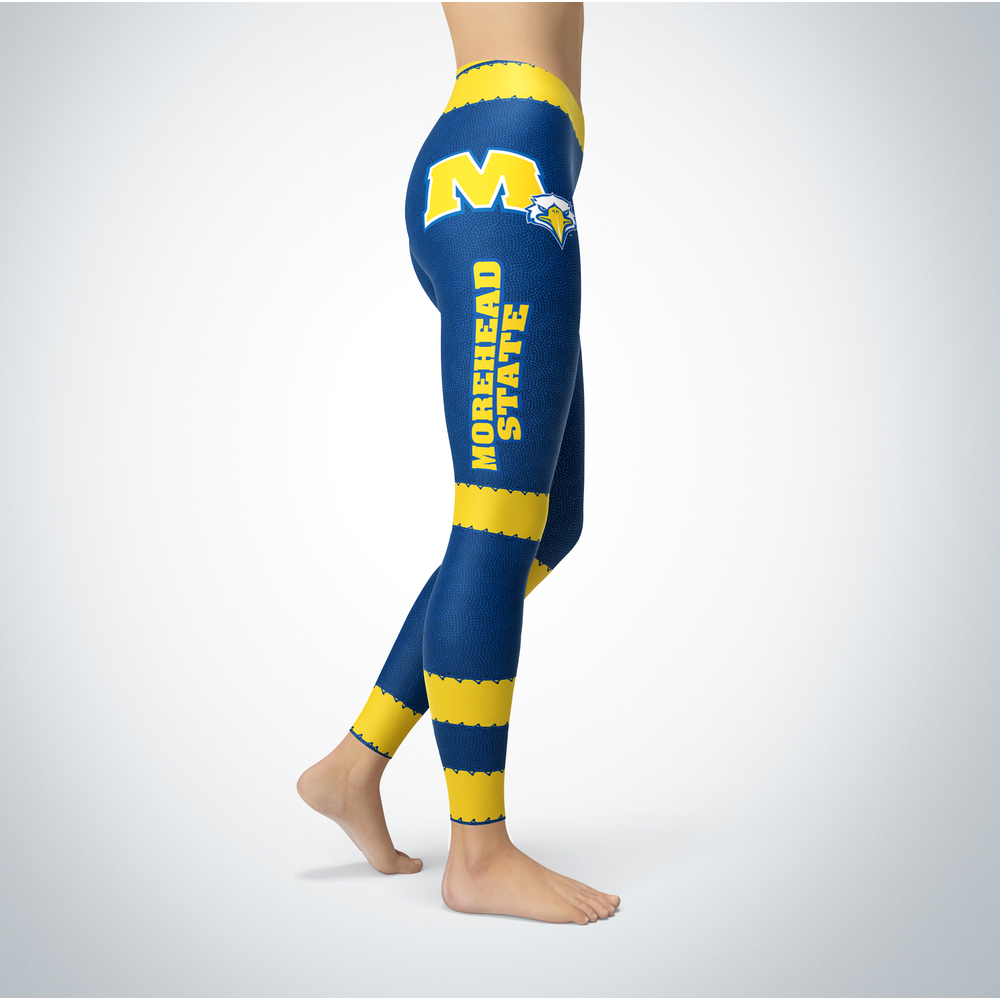Football Design Morehead State Eagles Leggings Front picture