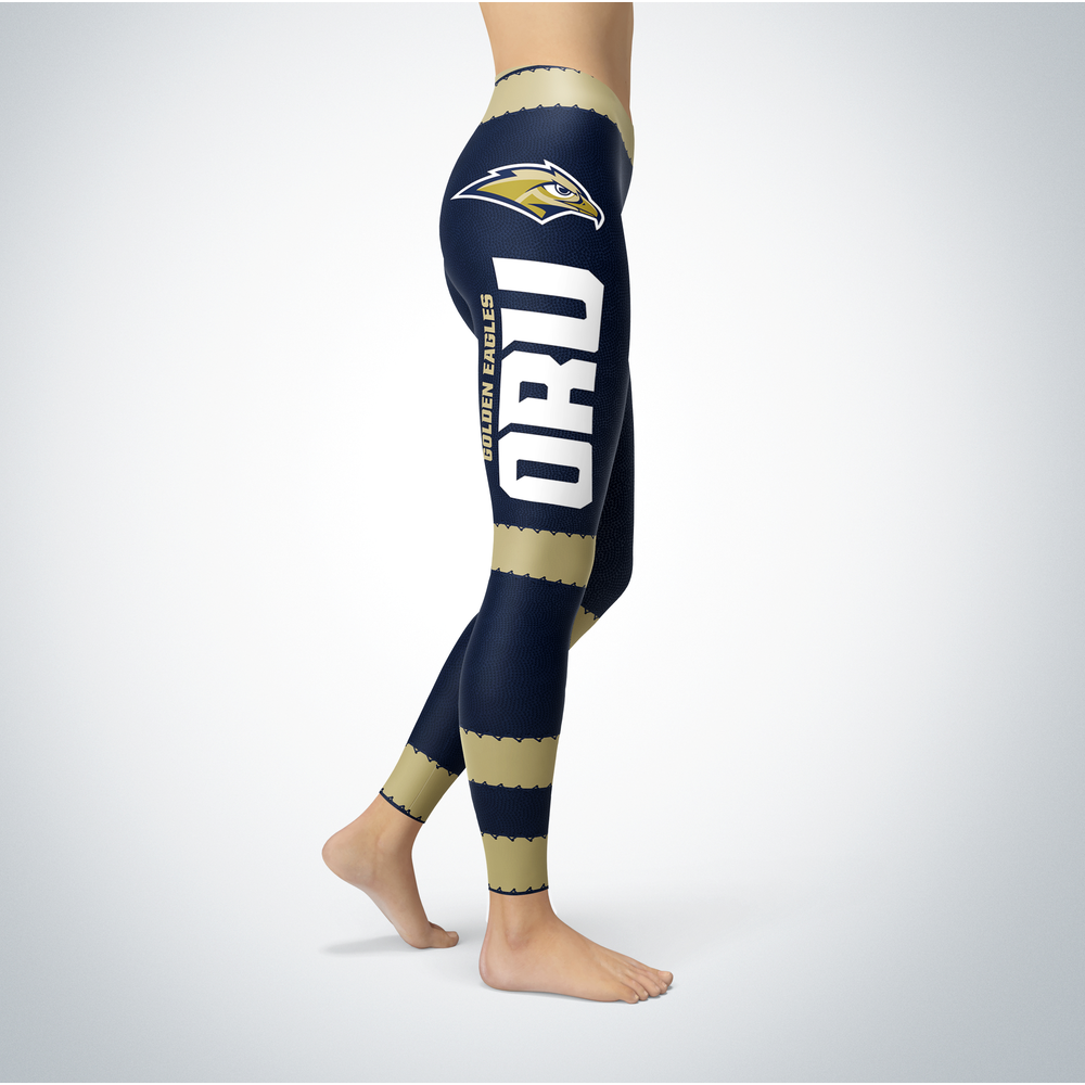 Football Design Oral Roberts Golden Eagles Leggings Front picture