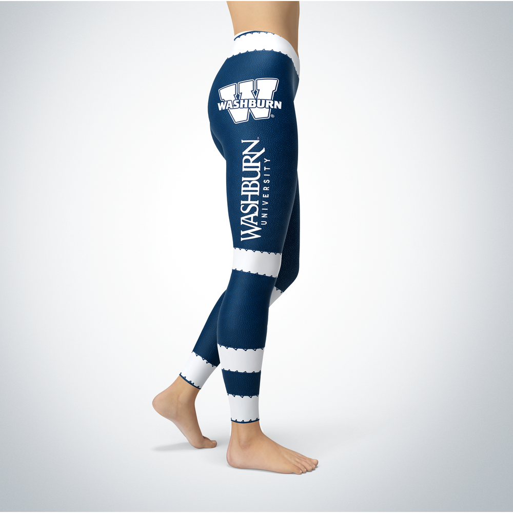 Football Design Washburn Ichabods Leggings Front picture