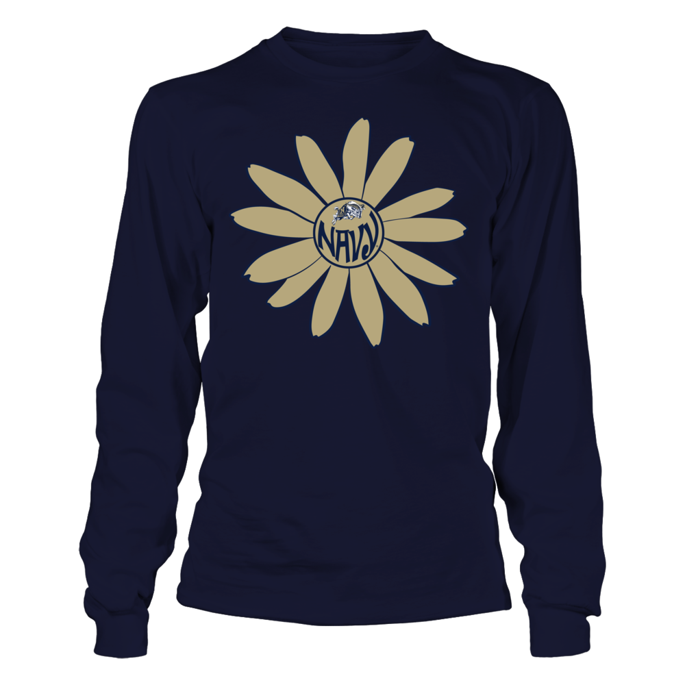 Navy Midshipmen - Flower Monogram Front picture