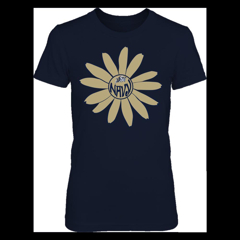 Navy Midshipmen - Flower Monogram Front picture