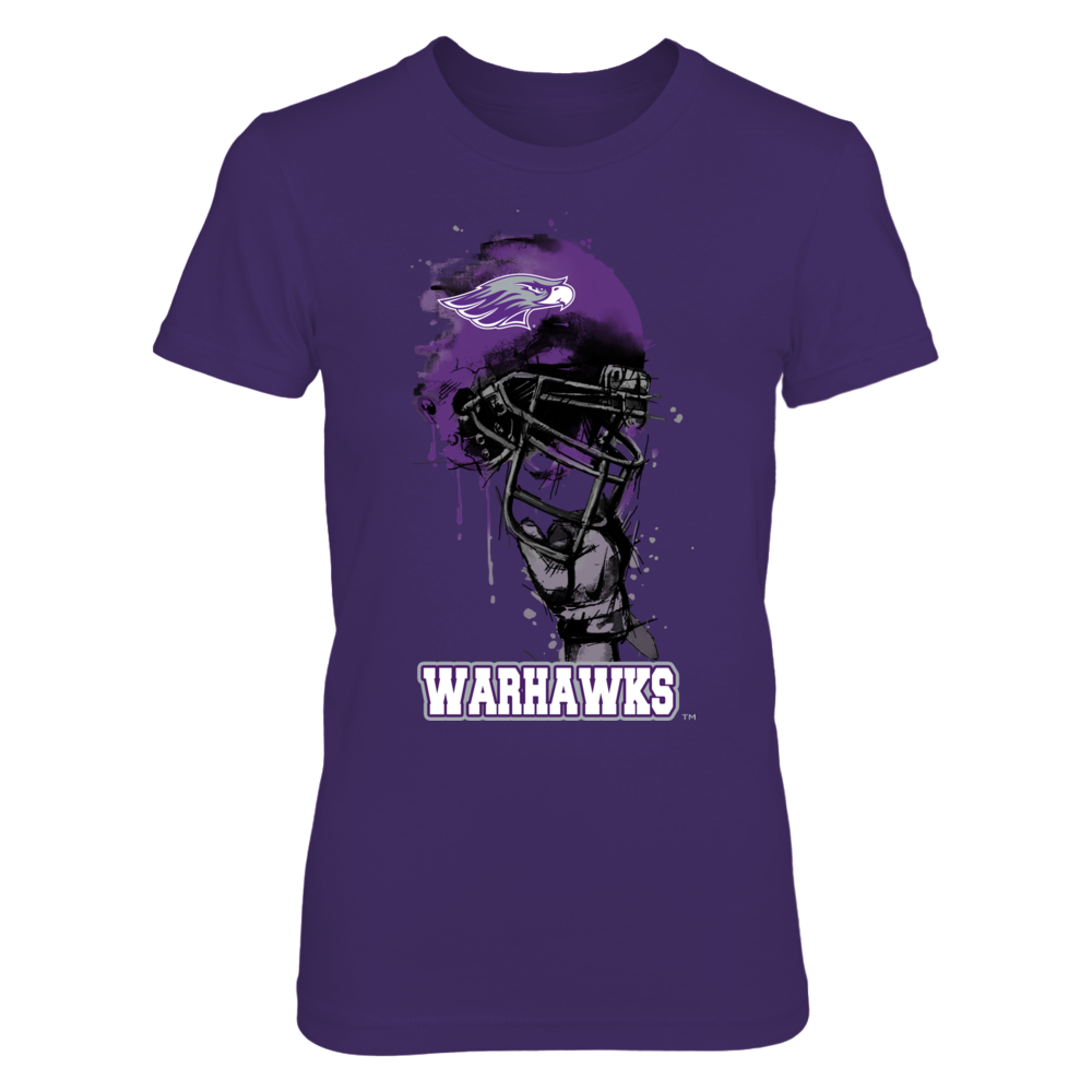 Wisconsin-Whitewater Warhawks - Rising Helmet Front picture