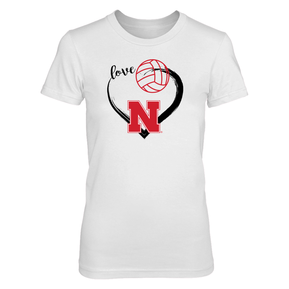 University Nebraska Volleyball Shirts for Women Front picture