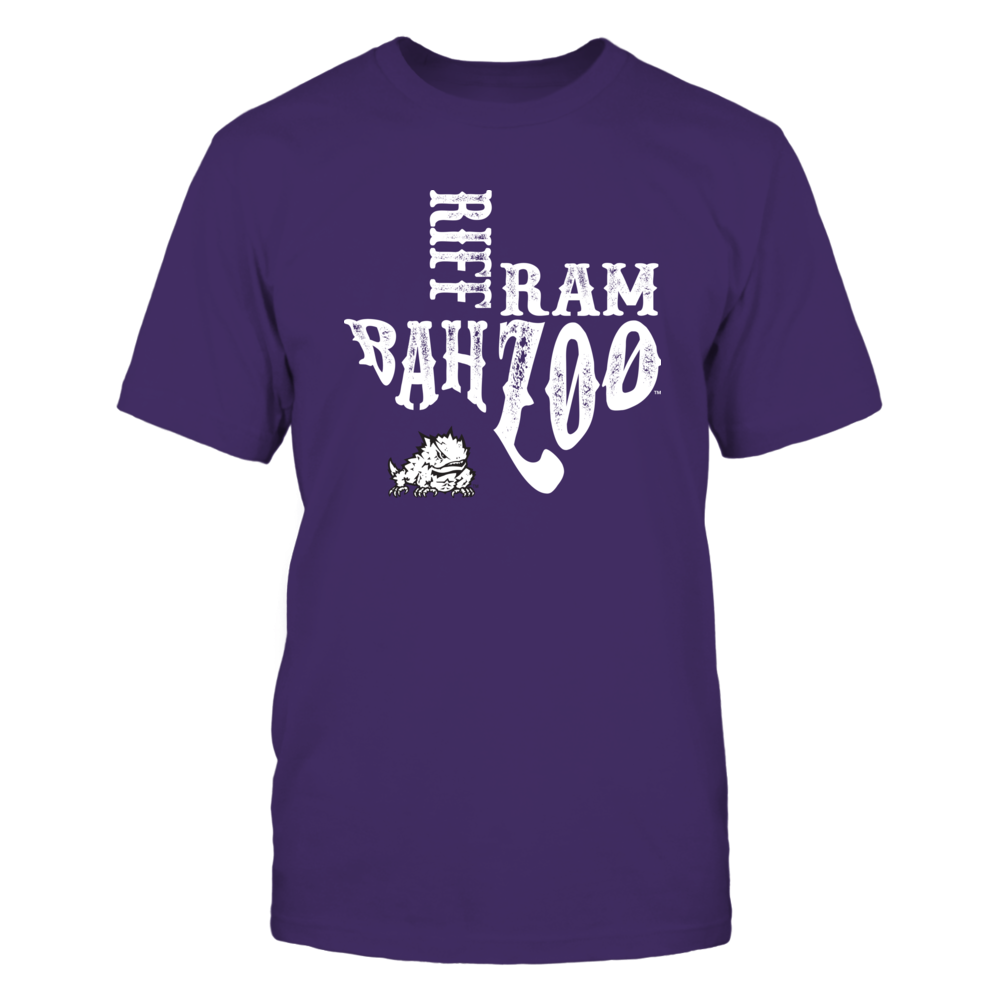 TCU Horned Frogs - Slogan Inside State Map - New Slogan Front picture