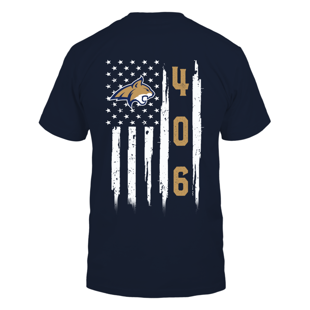 Montana State Bobcats - Flag Shirt - Area Code Back picture