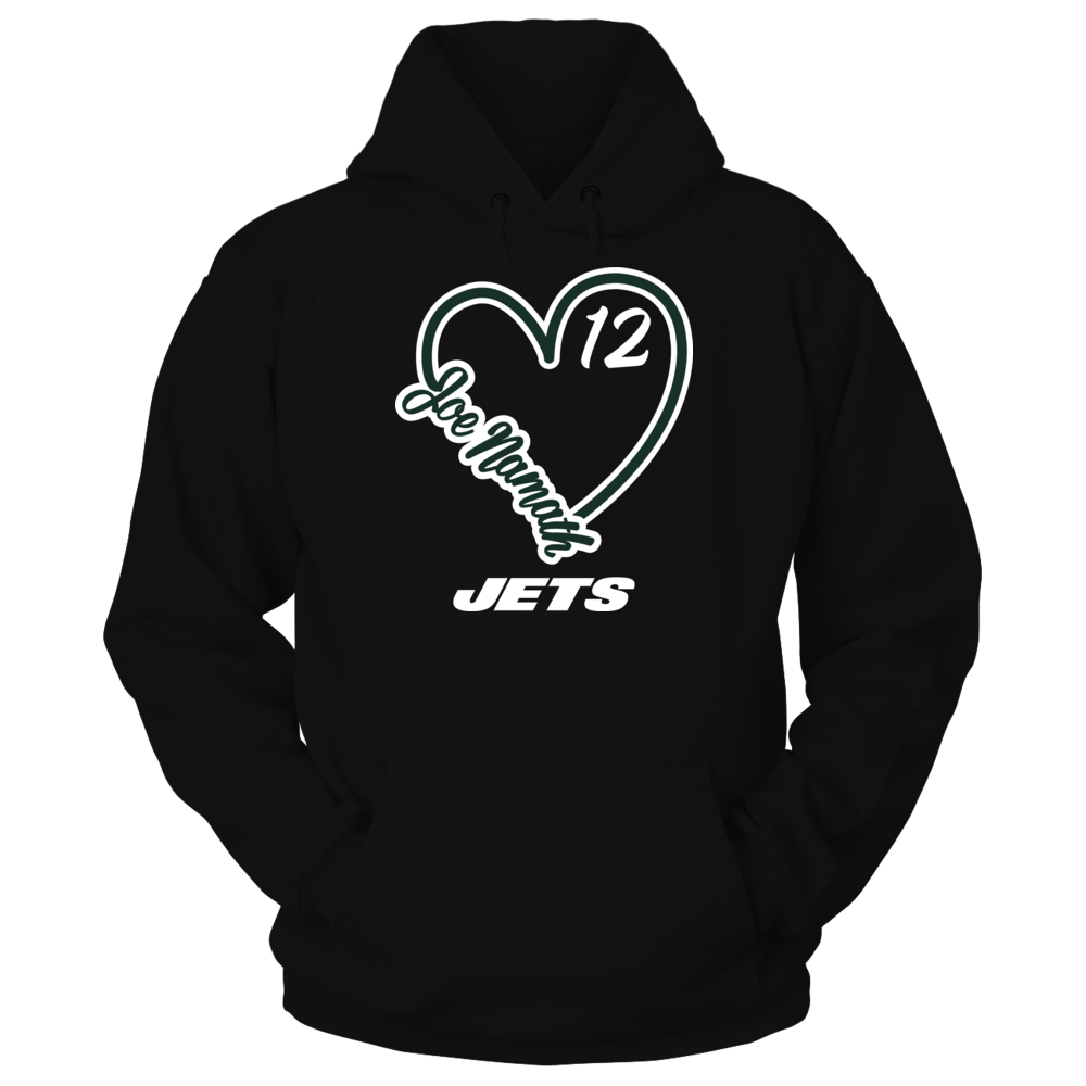 New York Jets - Namath - Heart Script Front picture