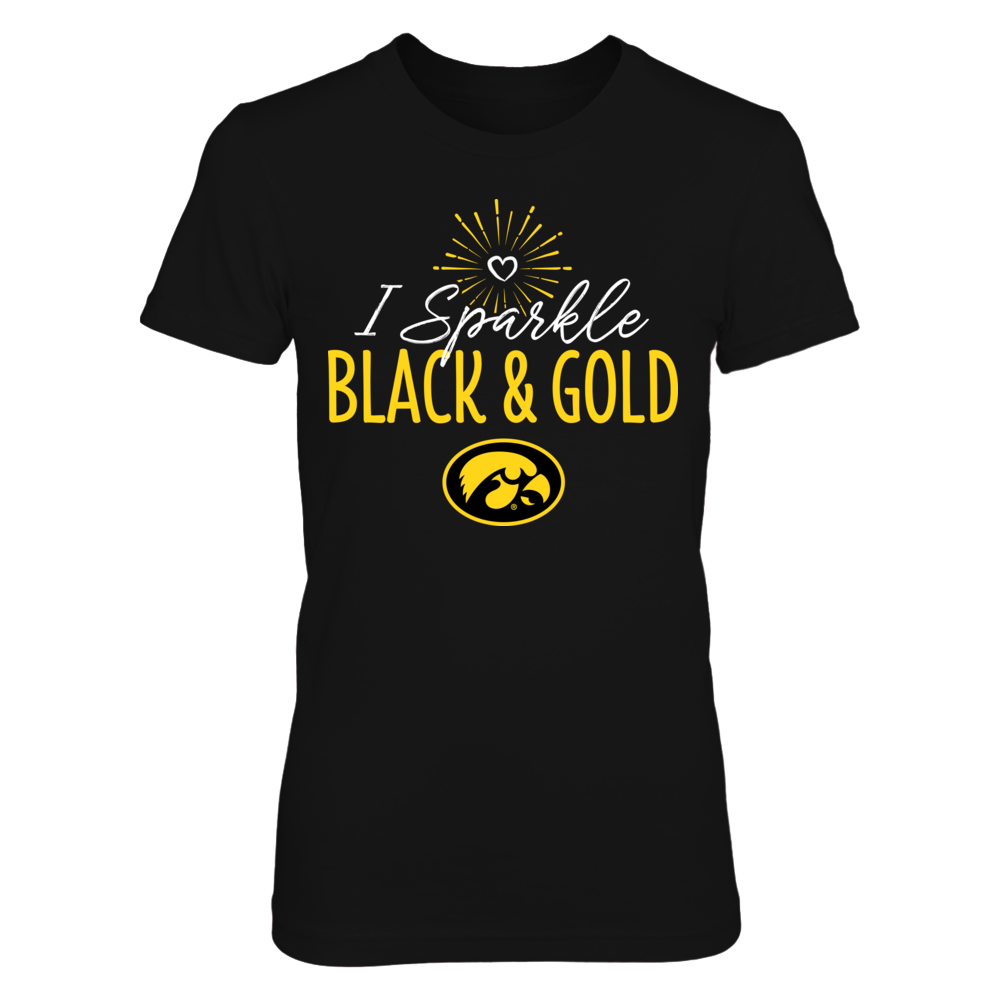 I Sparkle Iowa Hawkeyes School Colors T-Shirt   Tank Front picture