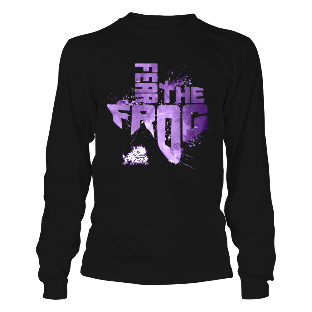 TCU Horned Frogs - Color Drop Slogan In State Map Front picture