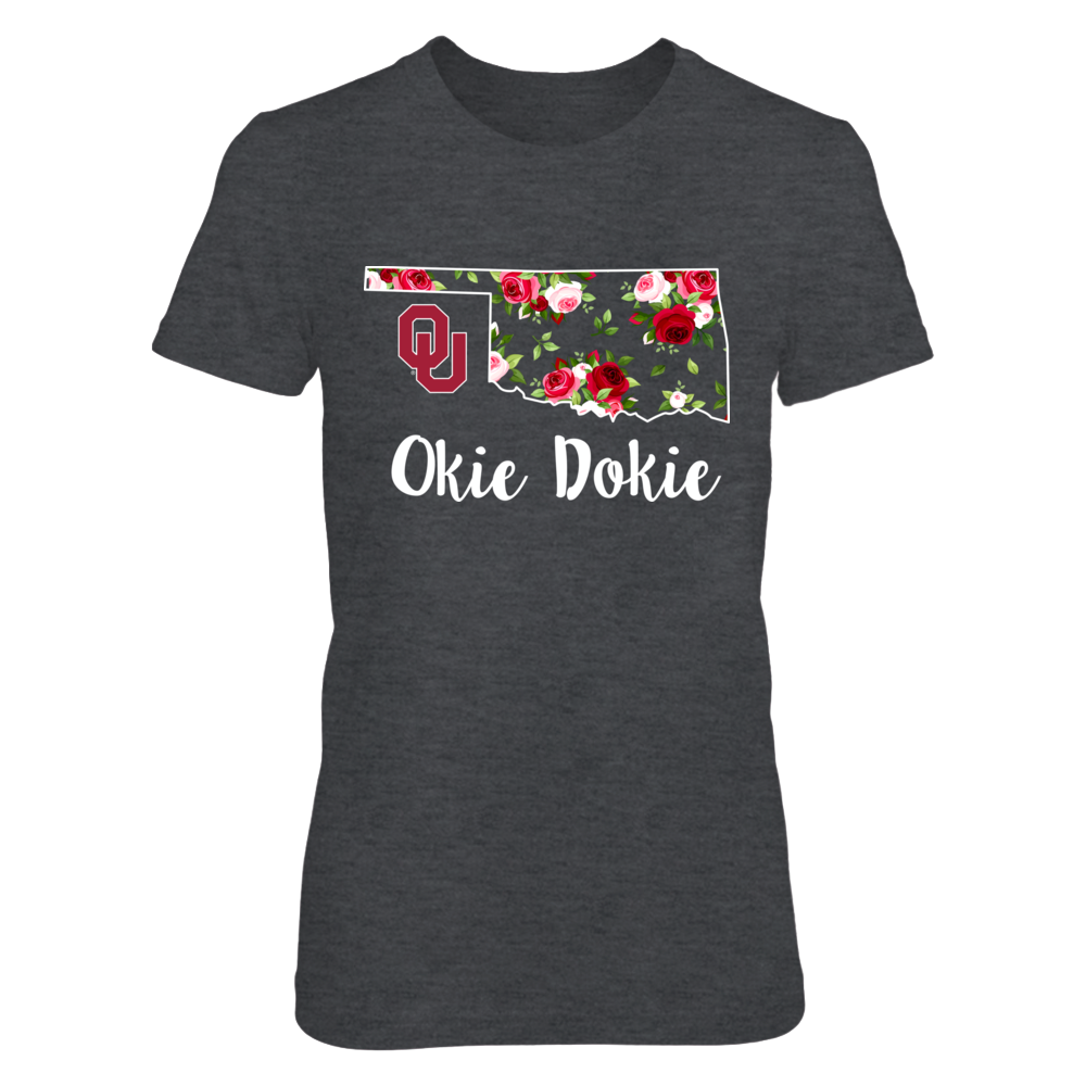 Oklahoma Sooners - Okie Dokie - Rose Patterned State Front picture