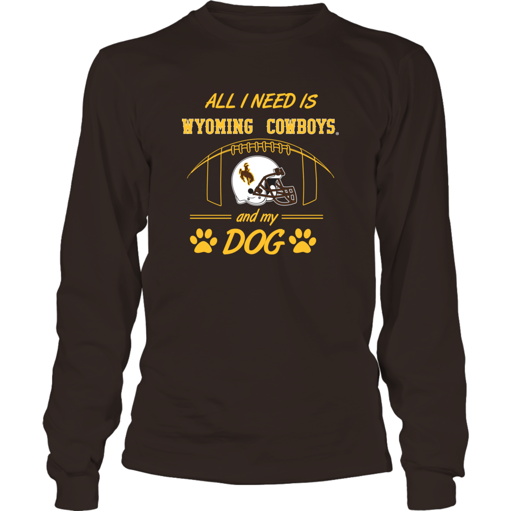 Univ Wyoming Football Shirt - Football and My Dog. Front picture