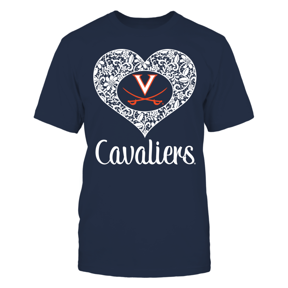 Virginia Cavaliers - Lace Heart Logo Front picture