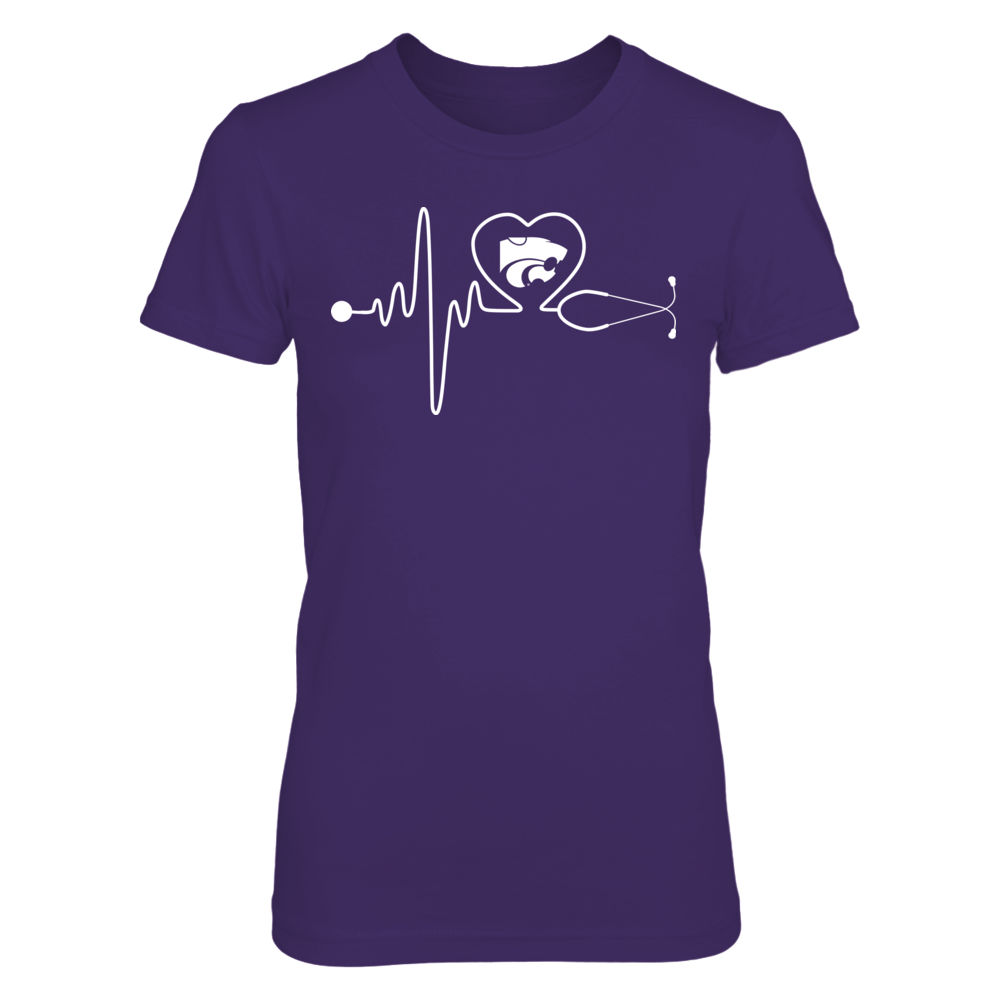 Kansas State Wildcats - Nurse - Stethoscope Heartbeat Front picture