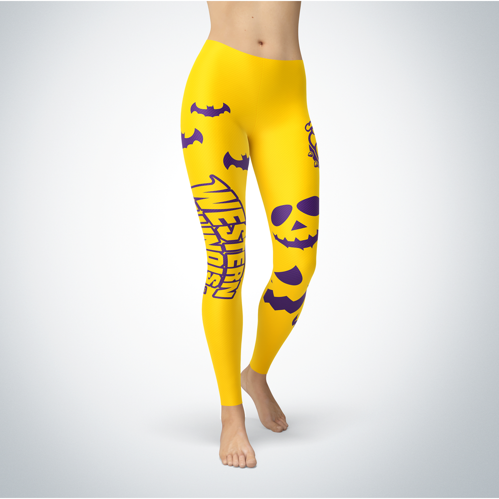 Halloween Design - Western Illinois Leathernecks - Leggings Front picture