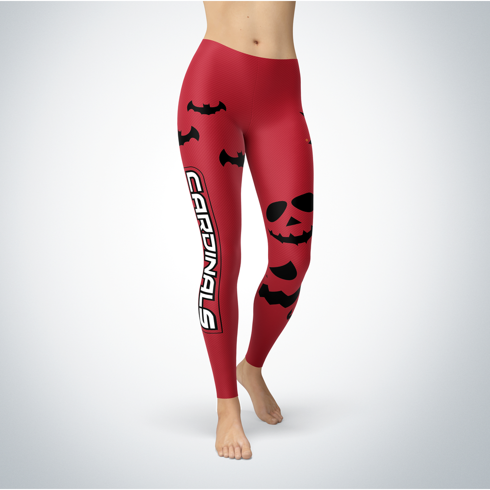 Halloween Design - Saginaw Valley State Cardinals - Leggings Front picture