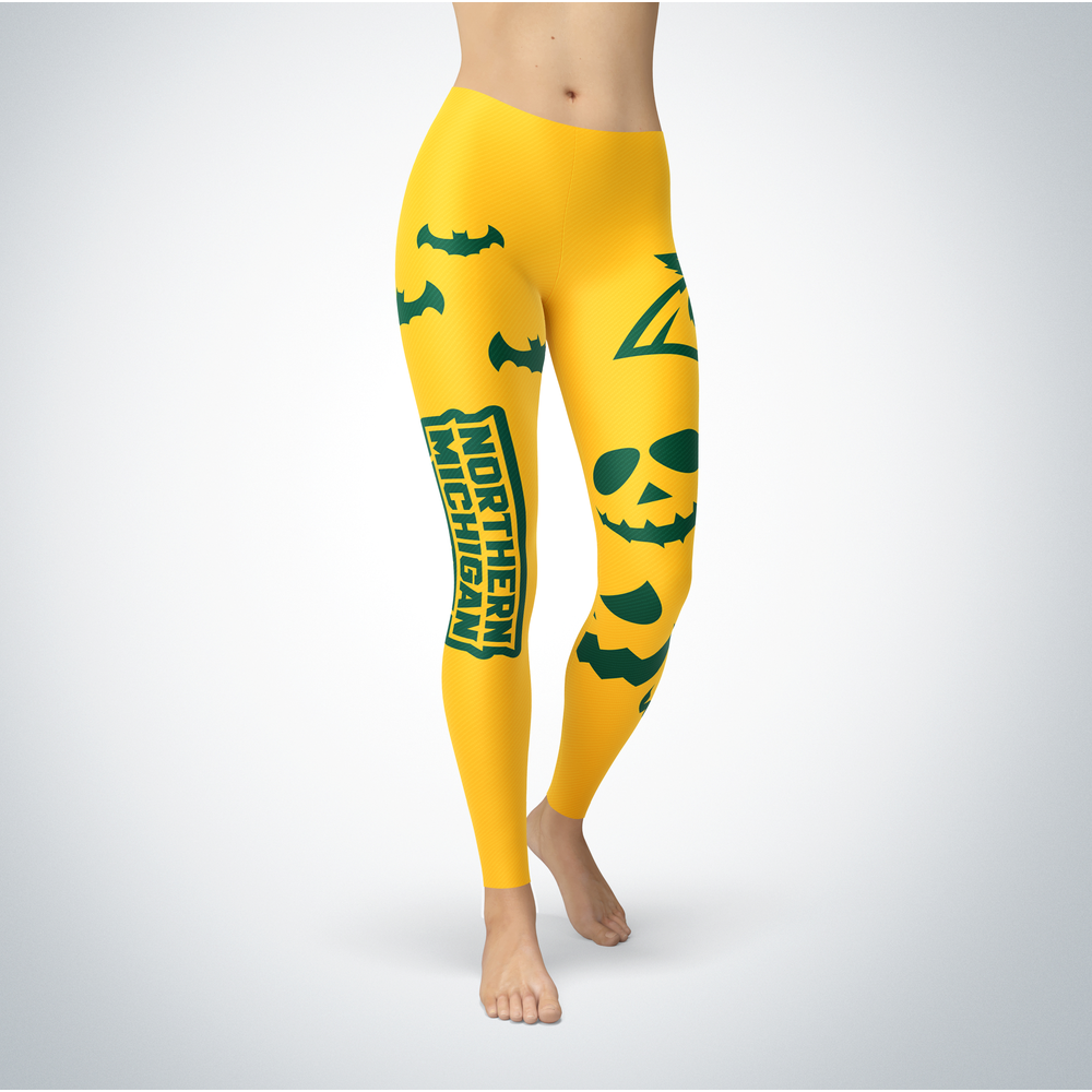 Halloween Design - Northern Michigan Wildcats - Leggings Front picture