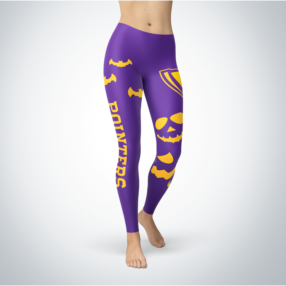 Halloween Design - Wisconsin-Stevens Point Pointers - Leggings Front picture