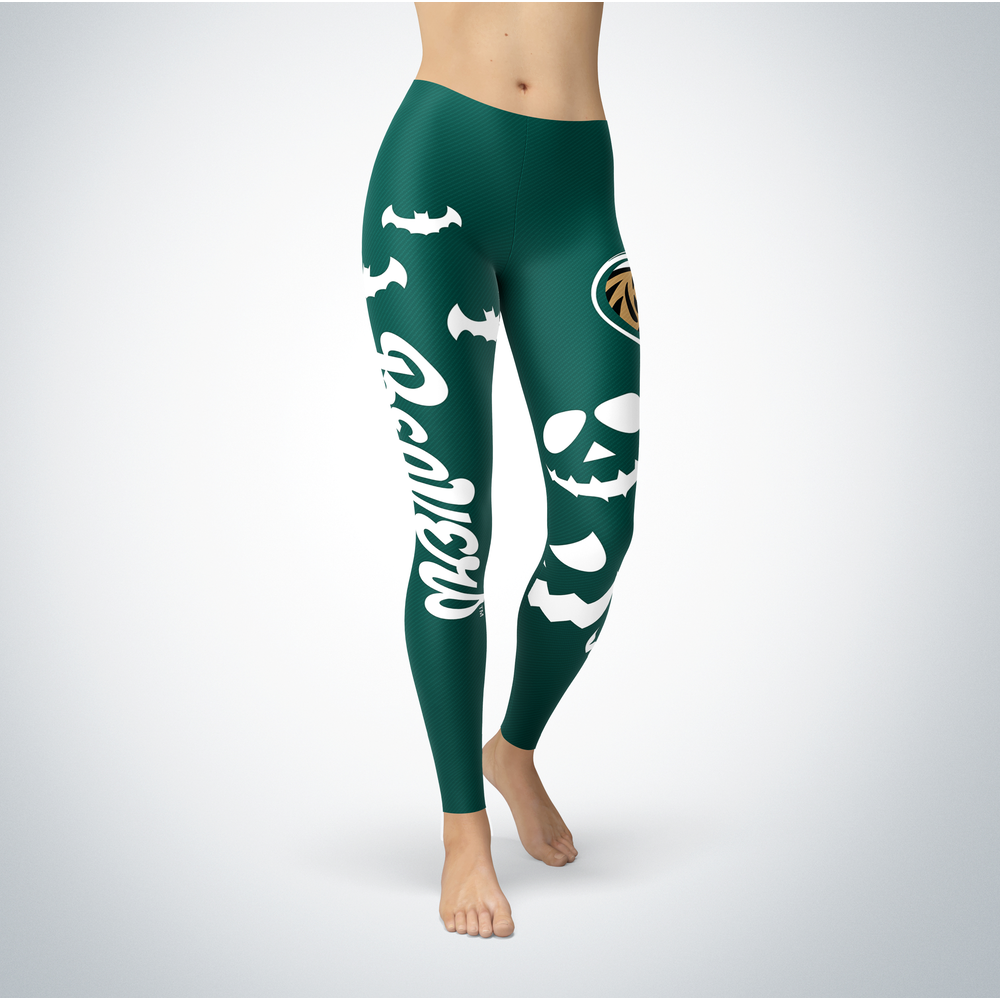 Halloween Design - Bemidji State Beavers - Leggings Front picture