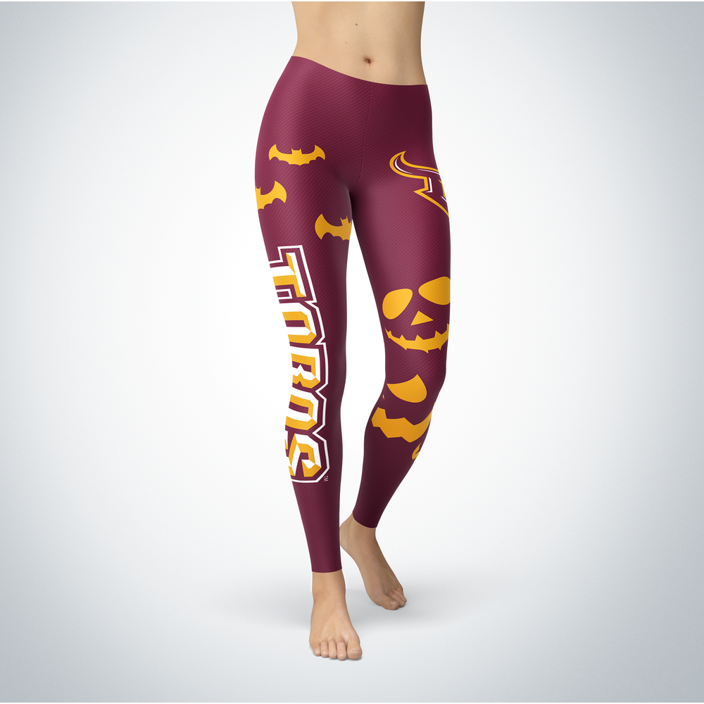 Halloween Design - Cal State Dominguez Hills Toros - Leggings Front picture