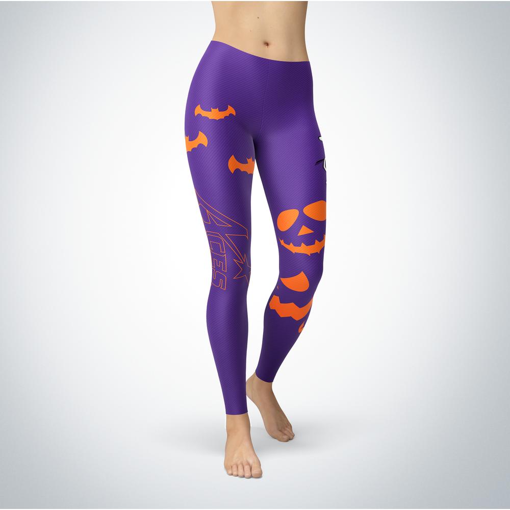Halloween Design - Evansville Purple Aces - Leggings Front picture
