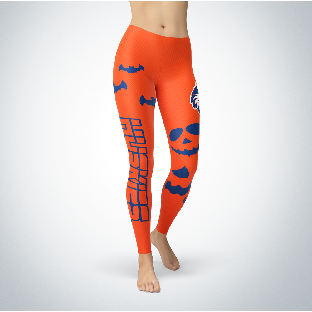 Halloween Design - Houston Baptist Huskies - Leggings Front picture