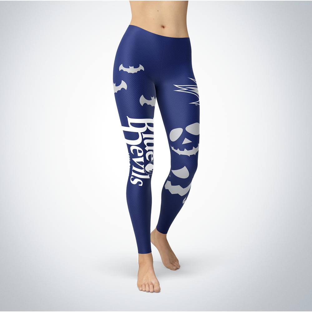Halloween Design - Wisconsin Stout Blue Devils - Leggings Front picture