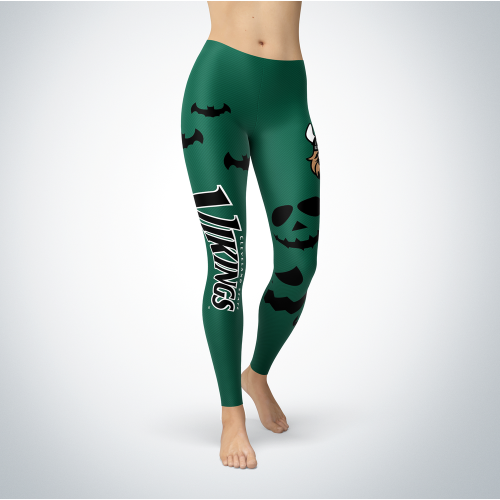 Halloween Design - Cleveland State Vikings - Leggings Front picture