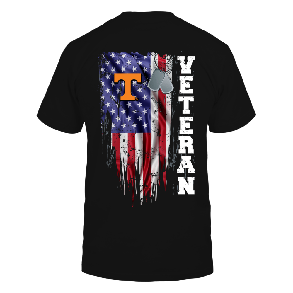 Tennessee Volunteers - Veteran - Disstress Nation Flag Back picture