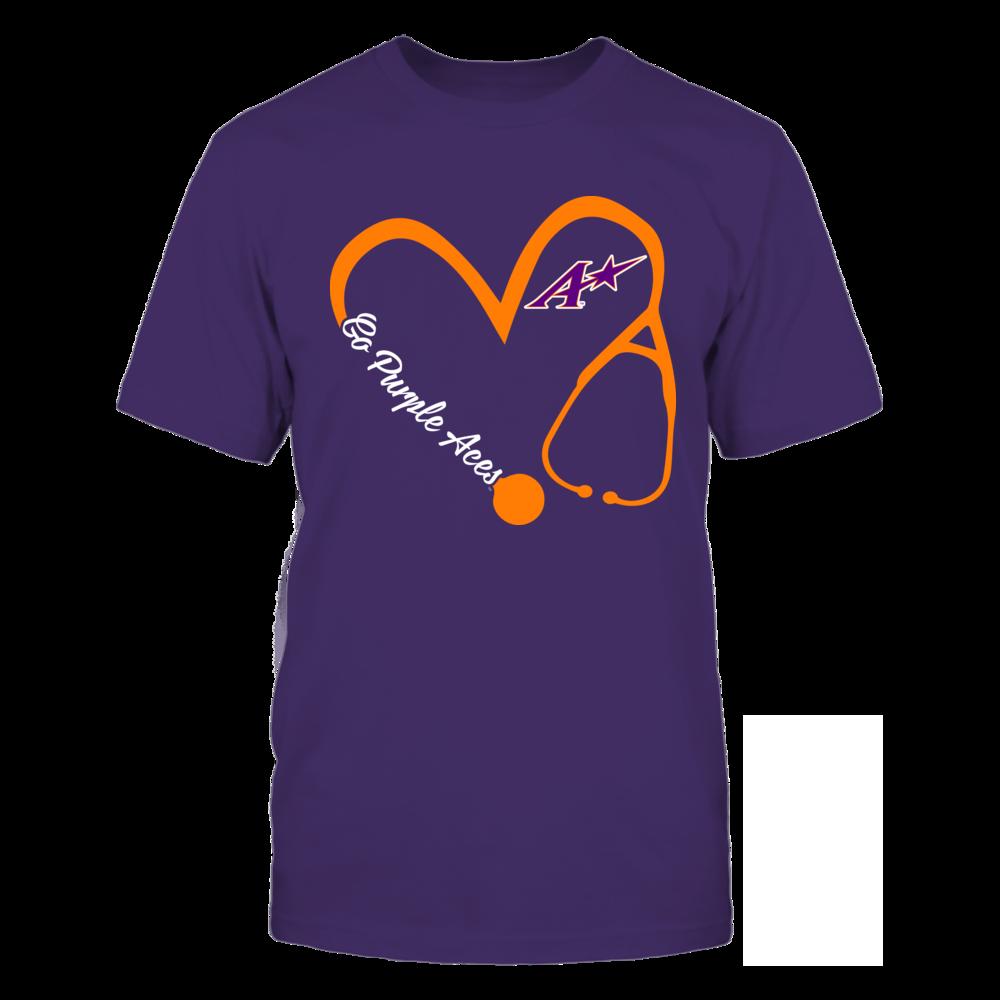 Evansville Purple Aces - Heart 3/4 - Nurse Front picture