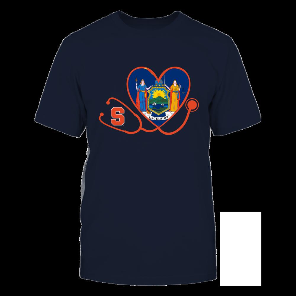 Syracuse Orange - Nurse - Heart Stethoscope - State Flag Front picture