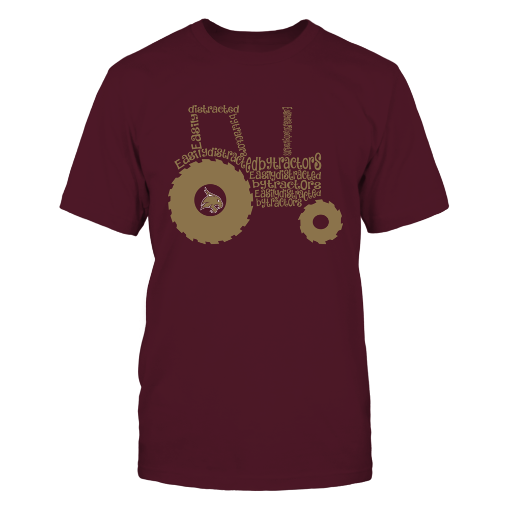 Texas State Bobcats - Farmer - Easily Distracted Inside Tractor Front picture