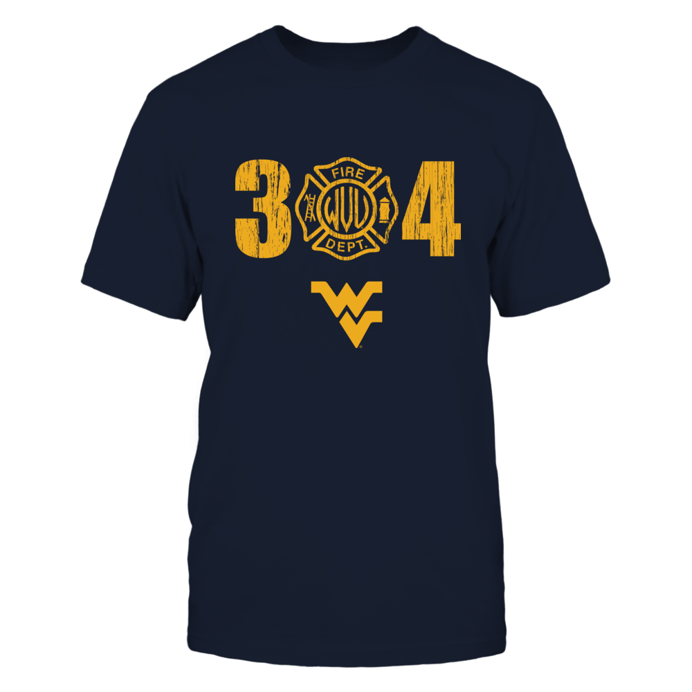 West Virginia Mountaineers - Firefighter - Firefighter Logo Inside Area Code Front picture