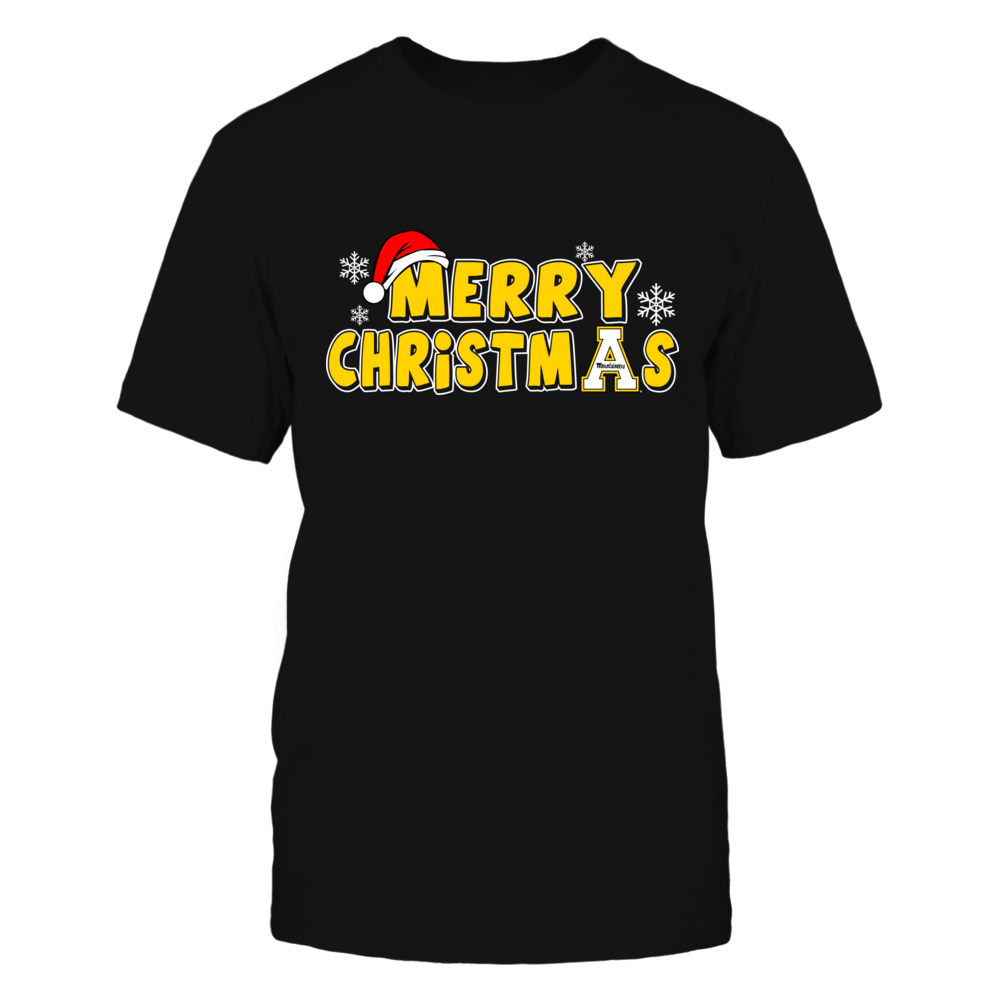Appalachian State Mountaineers - Christmas - Merry Christmas Logo Front picture