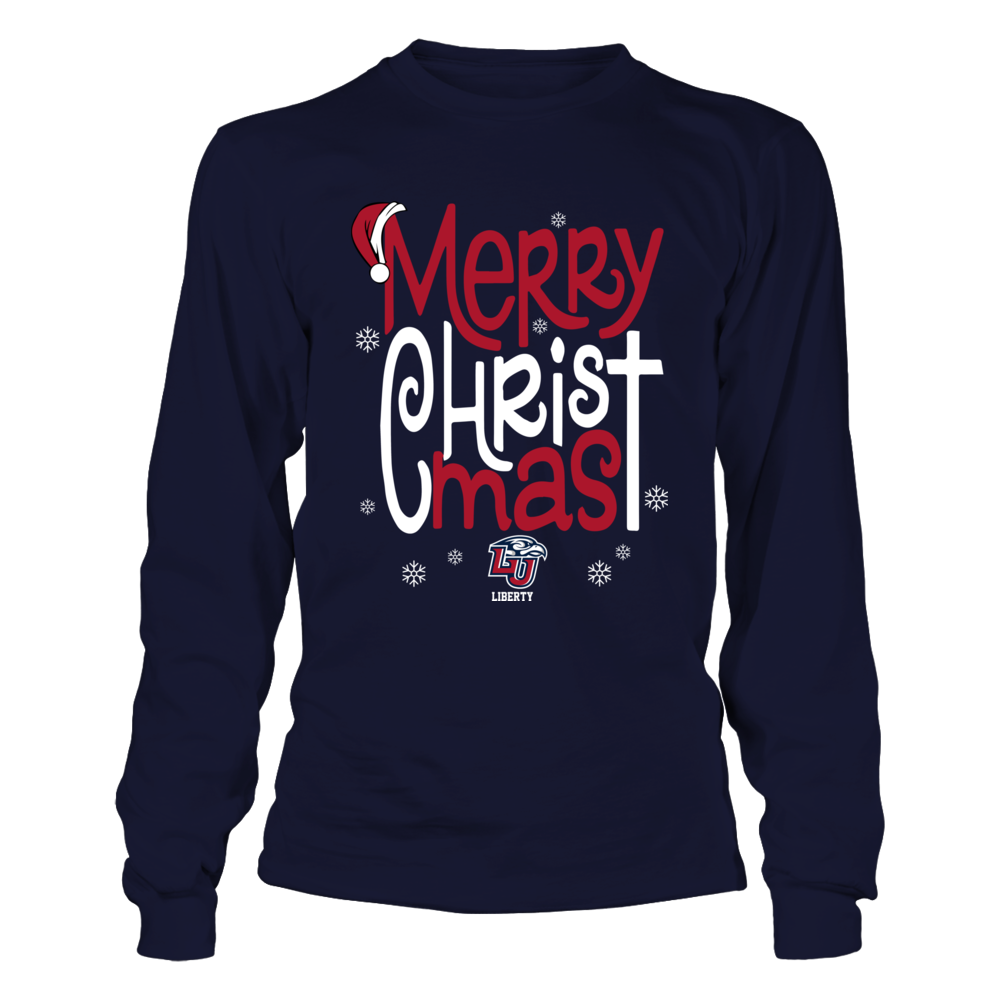 Liberty Flames - Christmas - Merry CHRISTmas - Jesus Front picture
