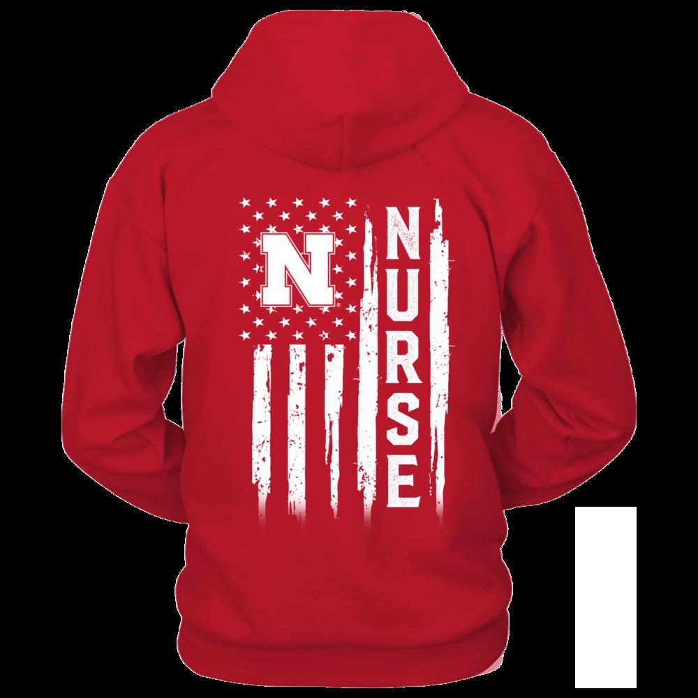 Nebraska Cornhuskers - Flag Shirt - Nurse Back picture