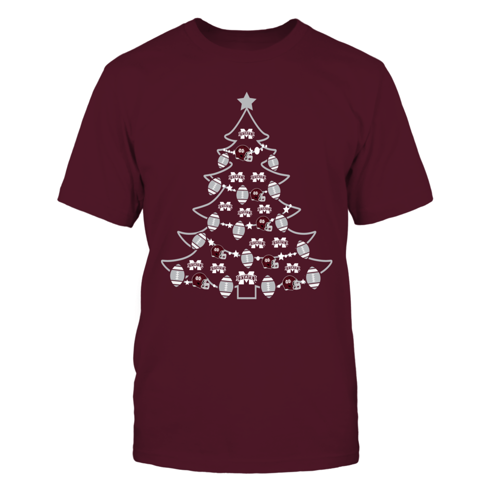 Mississippi State Bulldogs - Christmas - Football Xmas Tree Front picture