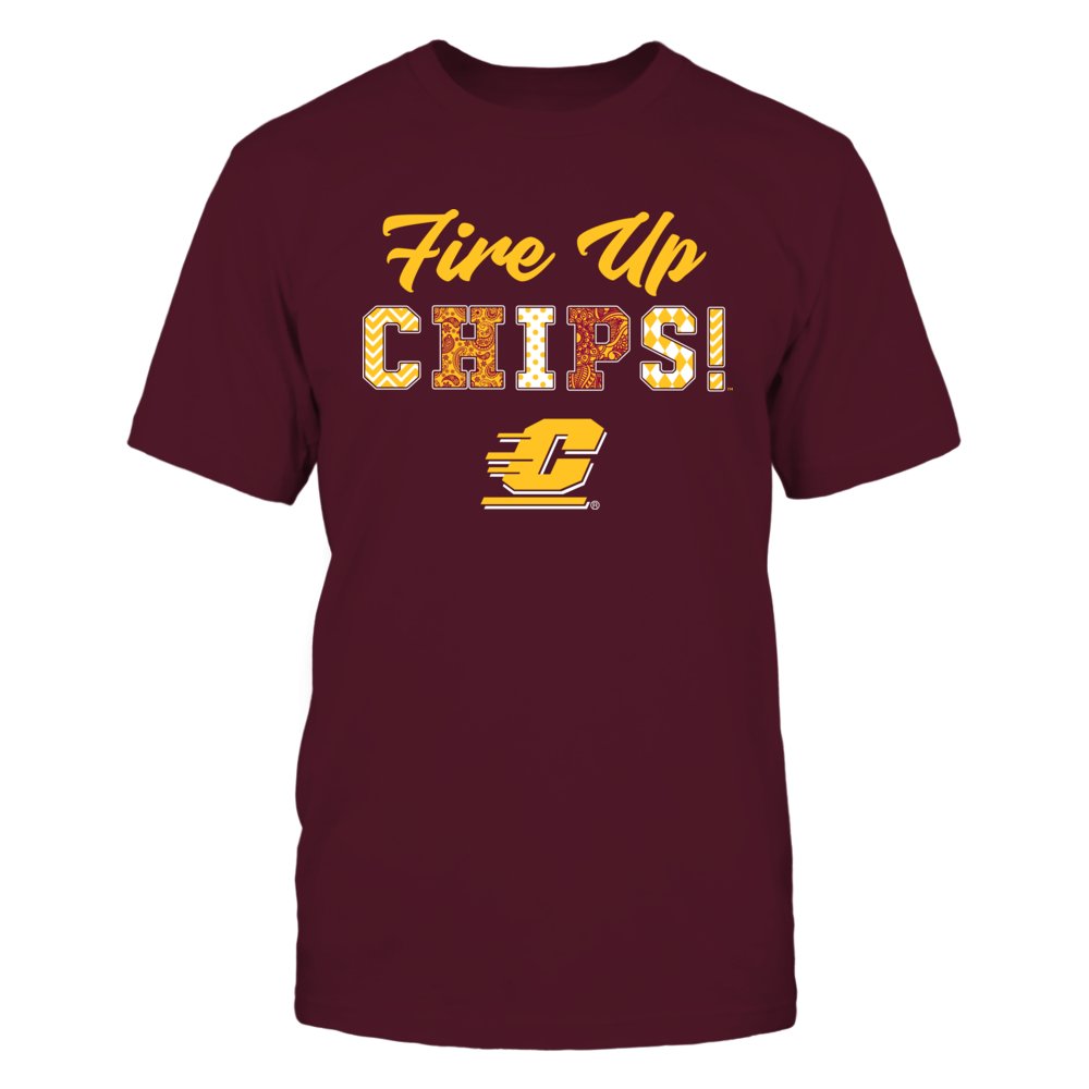 Central Michigan Chippewas - Patterned Letters - Slogan Front picture