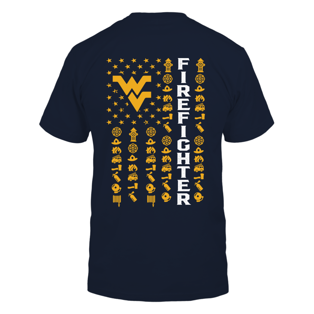 West Virginia Mountaineers - Firefighter - Firefighter Things Inside Flag Back picture
